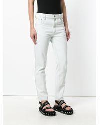 Isabel Marant Blue Glittered Cotton Jeans