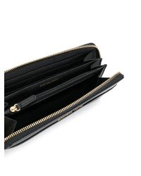 MICHAEL Michael Kors | Black Jet Set Travel Continental Saffiano Wallet | Lyst