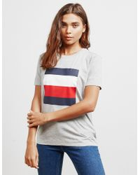 Tommy Hilfiger Gray Cathy Flag Short Sleeve T-shirt Grey