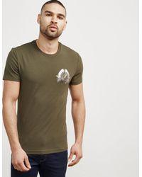 Versace Jeans - Mens Foil Leaf Short Sleeve T-shirt Green for Men - Lyst