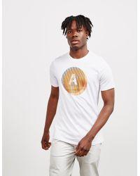 Armani Exchange Circle Logo Short Sleeve T-shirt White for men