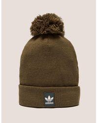 adidas Originals Mens Logo Bobble Hat Brown in Brown for Men - Lyst 98f6c45ba36