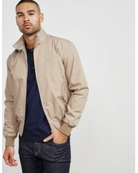 Fred Perry - Natural Mens Reissue Harrington Lightweight Jacket Beige for Men - Lyst