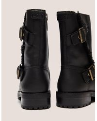 Ugg Womens Niels Biker Boot Black, Black