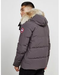 Canada Goose Mens Wyndham Padded Parka Jacket Grey In Gray