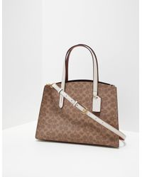 COACH Canvas Charlie Carryall Bag - Online Exclusive Brown