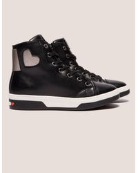 Love Moschino Womens Heart High Top Black for men