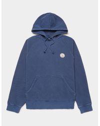 Nudie Jeans Circle Hoodie Blue for men