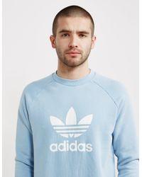 Adidas Originals Mens Trefoil Crew Sweatshirt Blue
