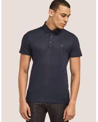 Michael Kors - Blue Short Sleeve Sleek Polo Shirt for Men - Lyst