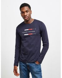 Tommy Hilfiger Tommy Long Sleeve T-shirt Navy Blue for men