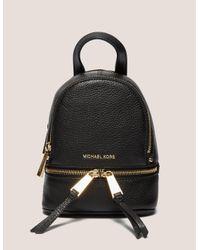 Michael Kors Rhea Zip Black Small Backpack