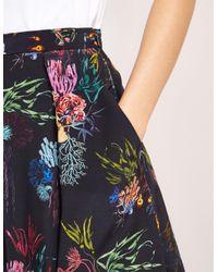 Paul Smith - Black Coral Print Skirt - Lyst