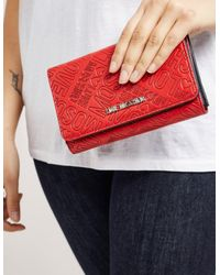 Love Moschino Red Embossed Purse