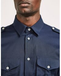 Vivienne Westwood   Blue Military Shirt for Men   Lyst