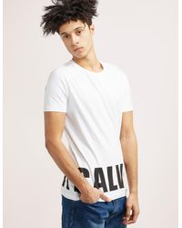 Calvin Klein | White Block Logo Short Sleeve T-shirt for Men | Lyst