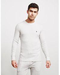Polo Ralph Lauren Gray Underwear Long Sleeve Waffle T-shirt Grey/grey for men