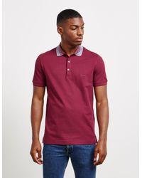 Missoni Dye Colour Short Sleeve Polo Shirt Red for men