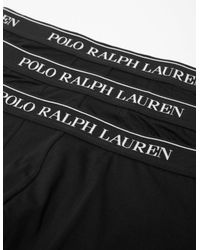 Polo Ralph Lauren Black Stretch Cotton 3 Pack Trunks for men