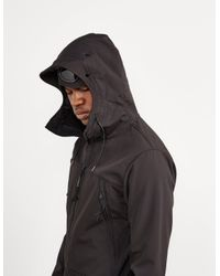 C P Company - Black Shell Sweatshirt Jacket for Men - Lyst