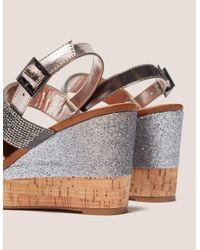 Ilse Jacobsen - Metallic Poppy Diamante Wedge Sandals - Lyst