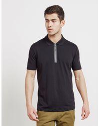 HUGO Zip Short Sleeve Polo Shirt - Online Exclusive Black for men