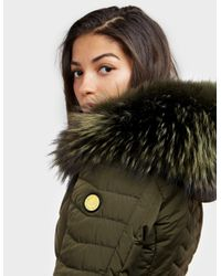 Froccella Womens Chevron Padded Jacket Green, Green
