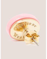 Vivienne Westwood - Pink Embossed Logo Earrings - Lyst