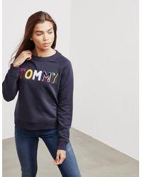 Tommy Hilfiger Womens Francesca Sweatshirt - Online Exclusive Navy Blue