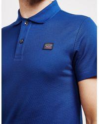 Paul And Shark - Mens Short Sleeve Pique Polo Shirt Blue for Men - Lyst