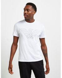 Emporio Armani Outline Eagle Short Sleeve T-shirt White for men