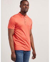 Michael Kors Mens Sleek Short Sleeve Polo Shirt Red for men