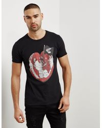 Vivienne Westwood Mens Anglomania World Short Sleeve T-shirt Black for men