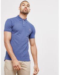 3734c135 Polo Ralph Lauren Mens Mesh Short Sleeve Polo Shirt Navy Blue in ...