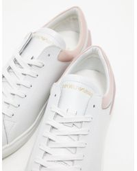 Emporio Armani - Womens Alana Sneakers - Online Exclusive White - Lyst