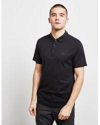 Michael Kors Sleek Short Sleeve Polo Shirt Black for men