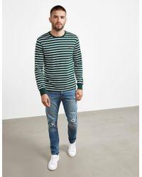 Polo Ralph Lauren Mens Stripe Long Sleeve T-shirt Green for men