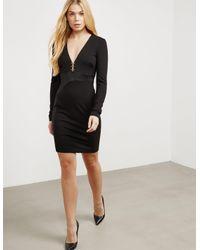 Versace Plunge Dress Black