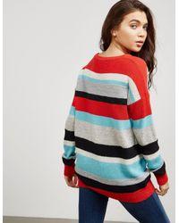 BOSS Multicolor Womens Colour Block Knit Jumper - Online Exclusive Multi