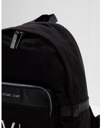 Versace Jeans Mens Linea Logo Backpack Black for men