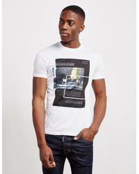 Armani Exchange Lights Box Short Sleeve T-shirt White for men