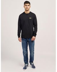 Barbour | Black International Small Logo Long Sleeve T-shirt for Men | Lyst