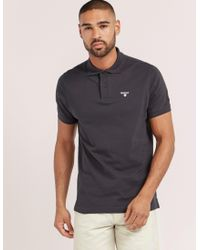 Barbour | Blue Tartan Pique Short Sleeve Polo Shirt for Men | Lyst