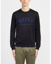 BOSS by Hugo Boss Salbo Crew Sweatshirt Black/blue for men