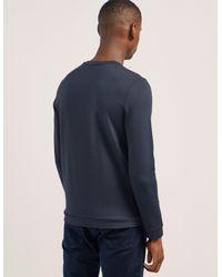 Armani - Blue Flocked Sweatshirt for Men - Lyst