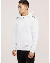 0ff03a10b0536 Lyst - adidas Originals Mens Nmd Half Zip Fleece Hoodie White black ...