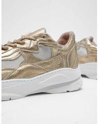 Filling Pieces - Metallic Mens Cosmo Mix Trainers Gold - Lyst