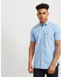 796f3c5e Boss Mens Cattitude Short Sleeve Shirt Blue in Blue for Men - Lyst