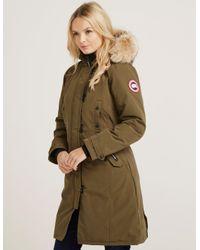canada goose kensington parka military green