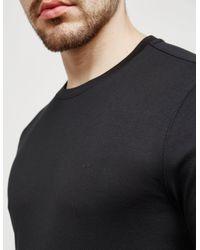 Michael Kors Mens Sleeke Long Sleeve T-shirt Black for men
